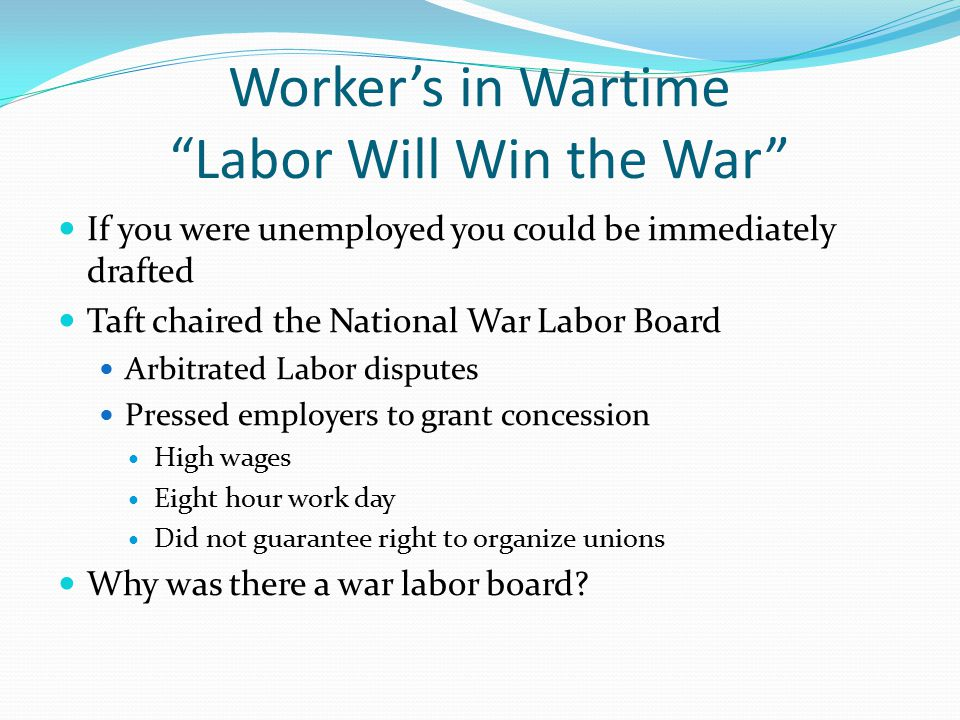 Worker's in Wartime Labor Will Win the War
