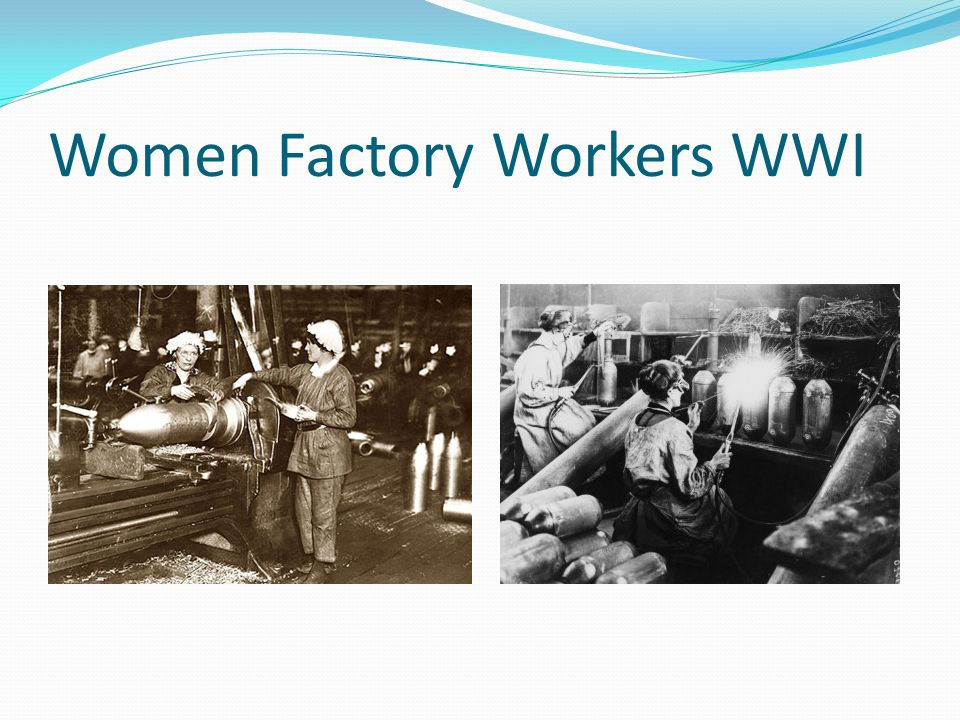 Women Factory Workers WWI