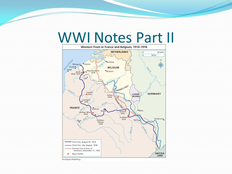 WWI Notes Part II