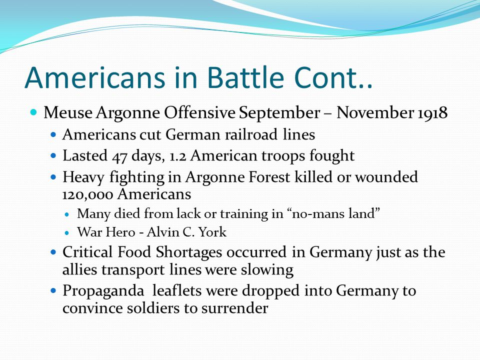 Americans in Battle Cont..