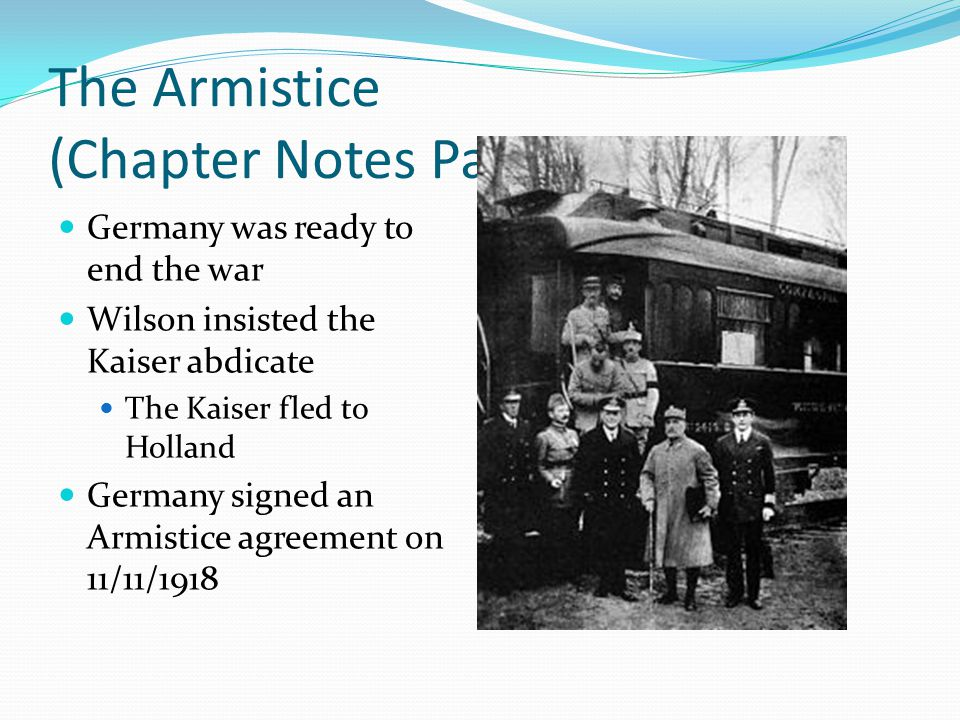 The Armistice (Chapter Notes Part III)