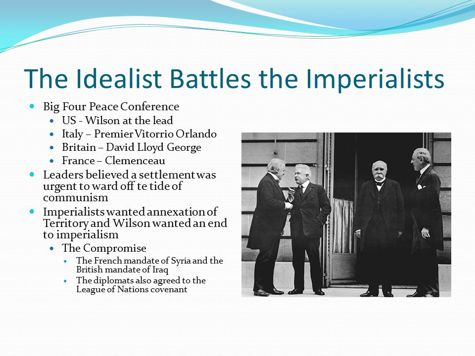 The Idealist Battles the Imperialists