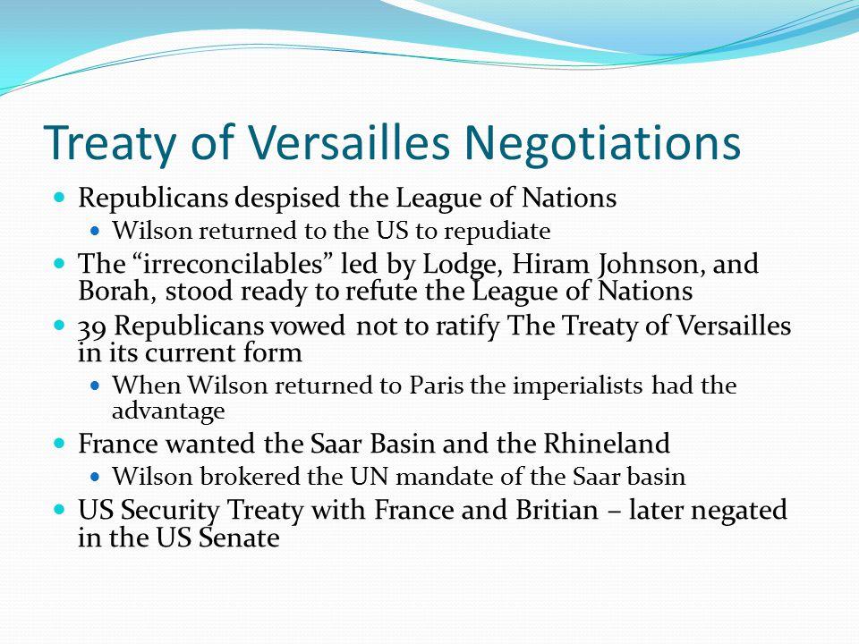 Treaty of Versailles Negotiations