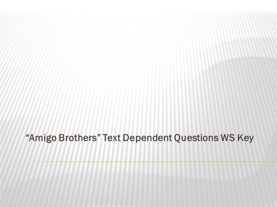 amigo brothers movie