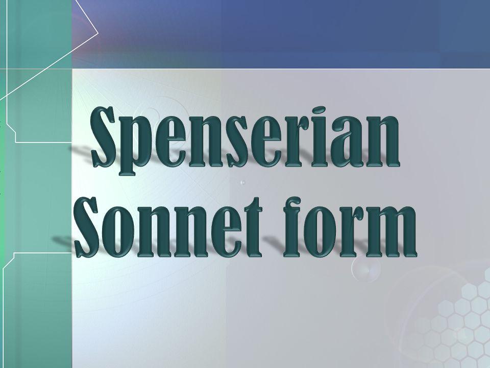 Spenserian Sonnet form