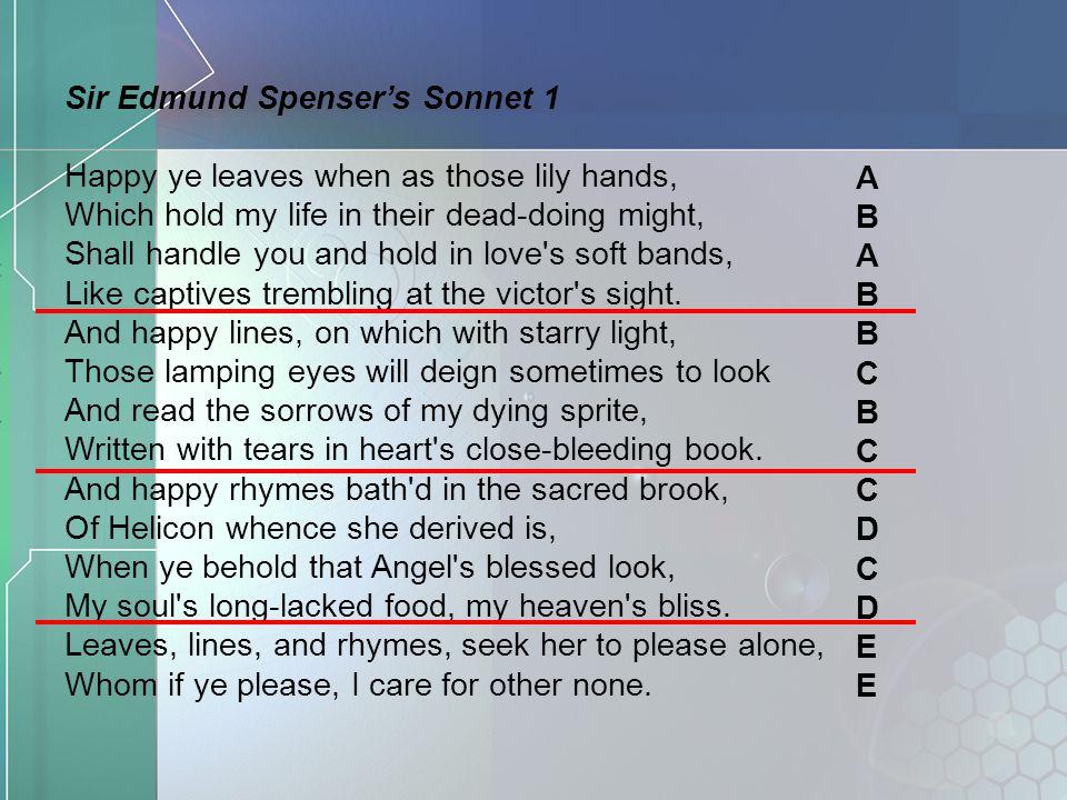 Sir Edmund Spenser's Sonnet 1