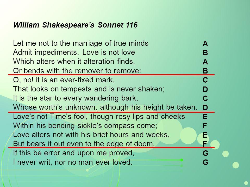 William Shakespeare's Sonnet 116