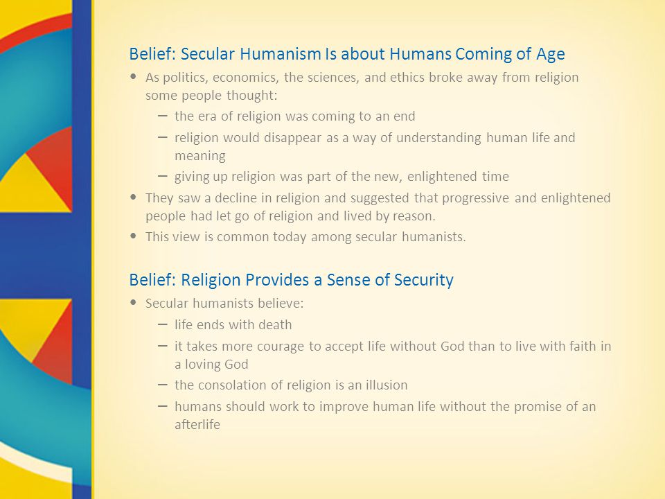 Belief: Secular Humanism Is about Humans Coming of Age