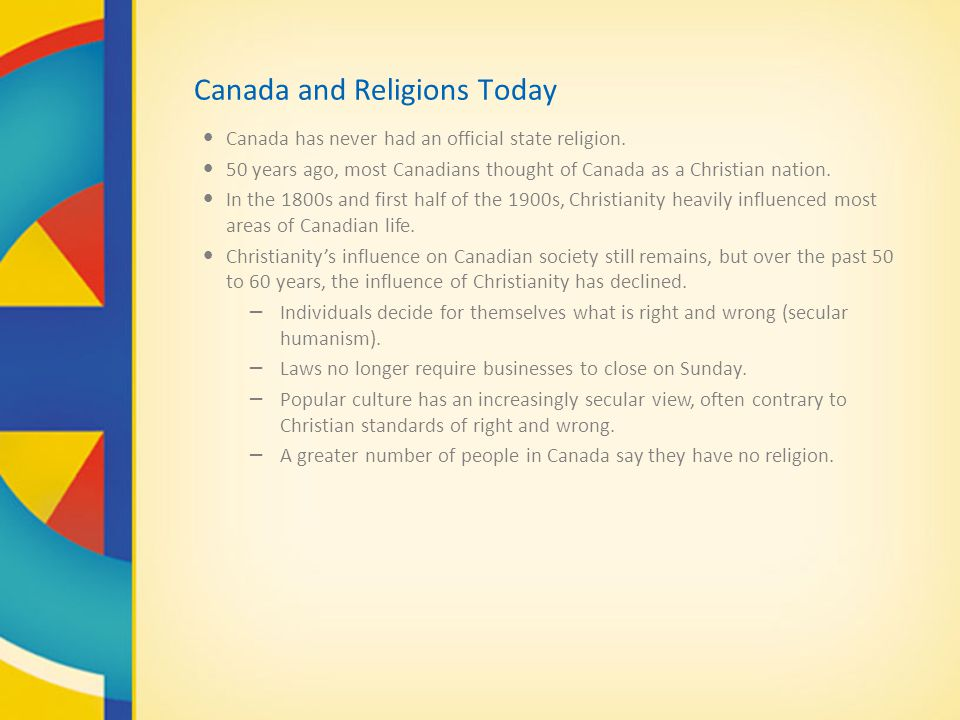 Canada and Religions Today