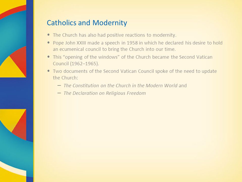 Catholics and Modernity