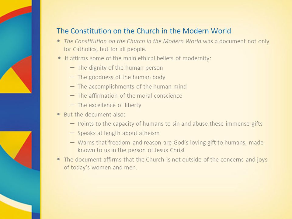 The Constitution on the Church in the Modern World