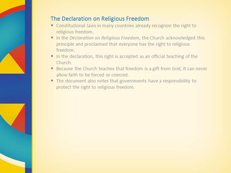 The Declaration on Religious Freedom