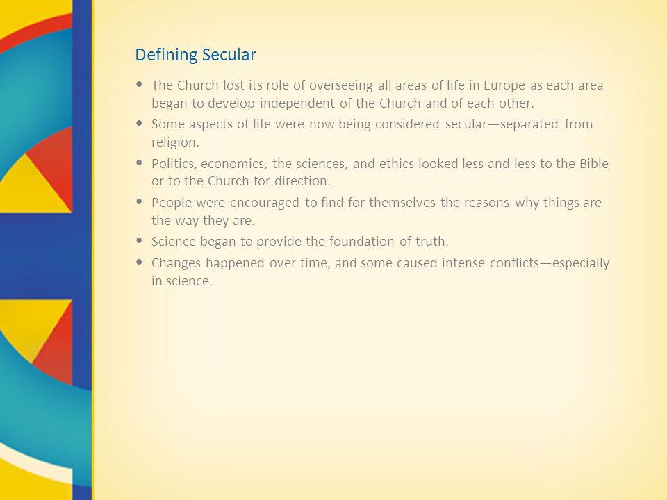 Defining Secular
