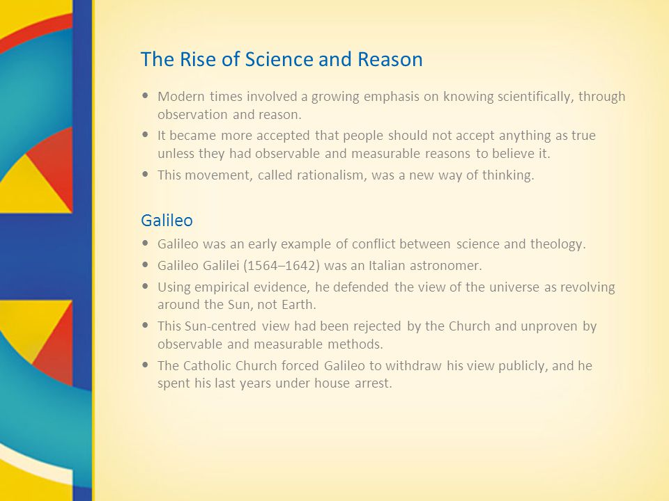 The Rise of Science and Reason