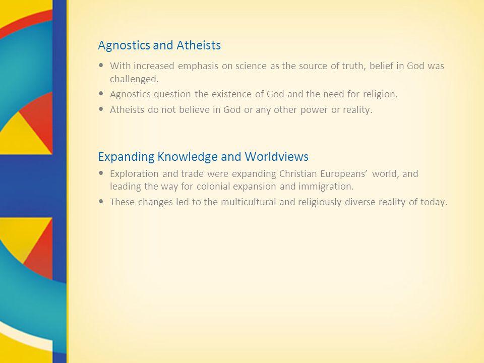 Agnostics and Atheists