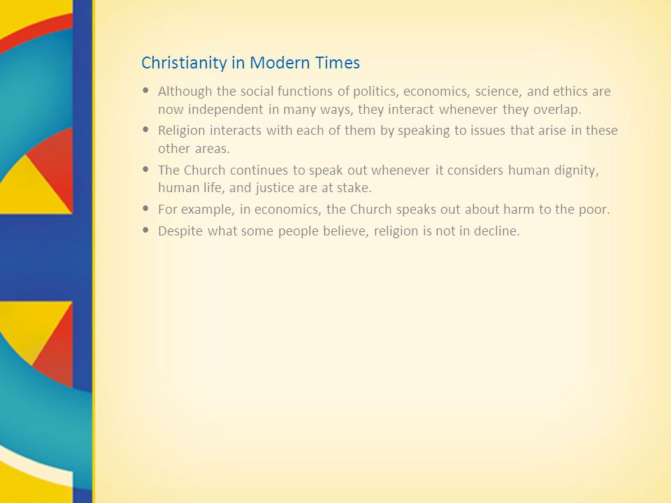 Christianity in Modern Times