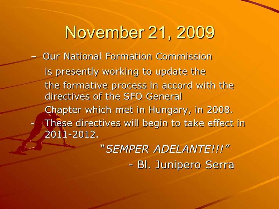 November 21, 2009 is presently working to update the