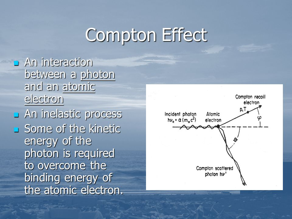 Compton Effect An interaction between a photon and an atomic electron