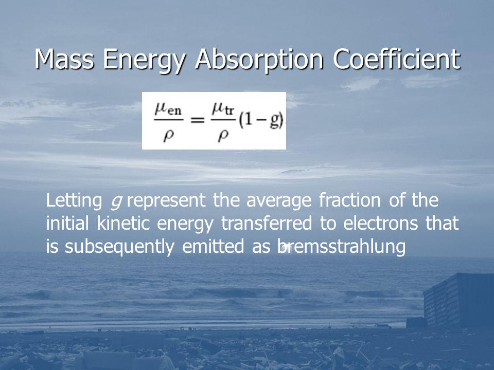 Mass Energy Absorption Coefficient