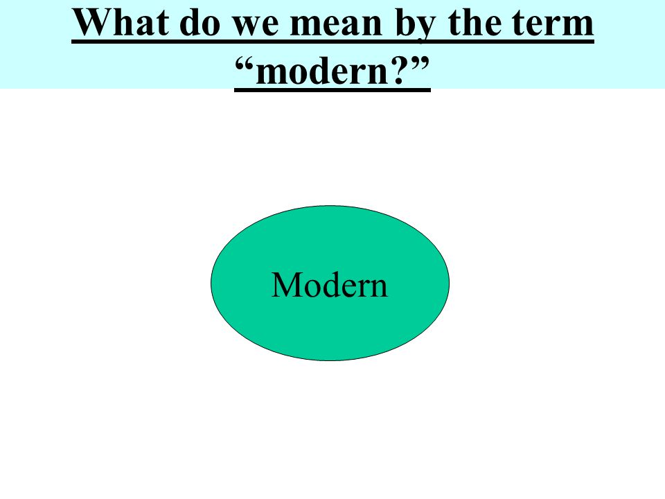 What do we mean by the term modern
