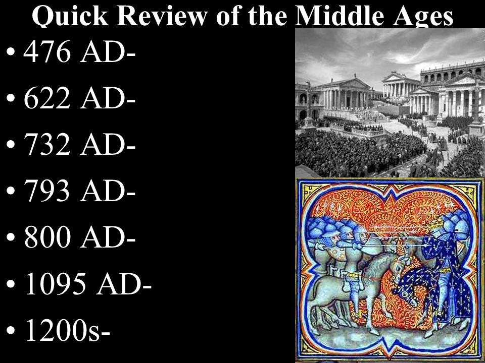 Quick Review of the Middle Ages