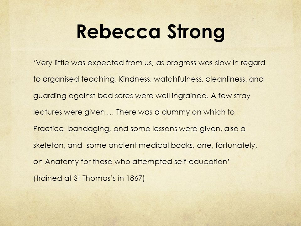 Rebecca Strong
