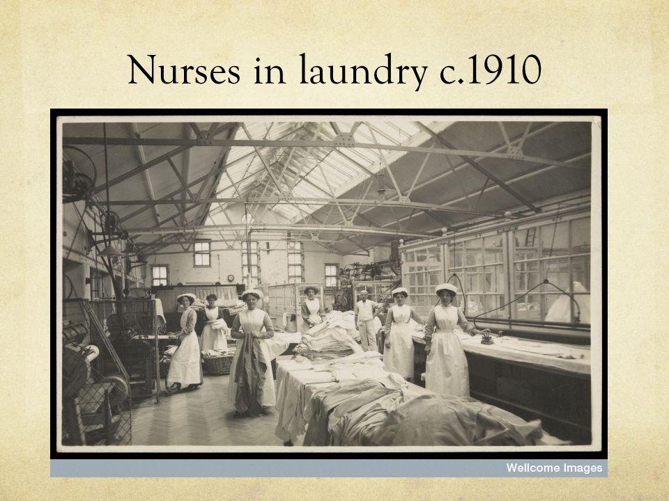 Nurses in laundry c.1910