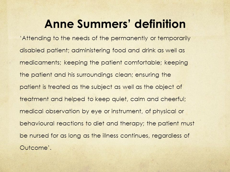 Anne Summers' definition