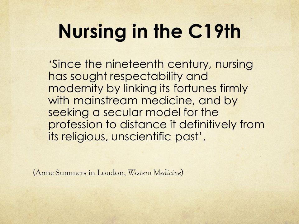 Nursing in the C19th