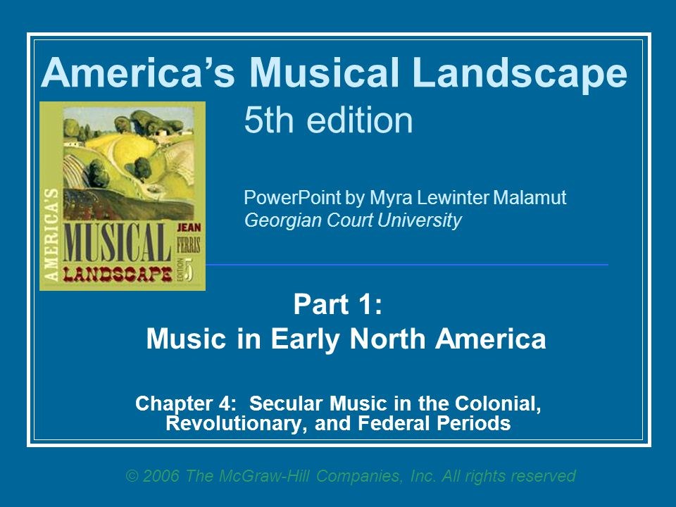 Music in Early North America