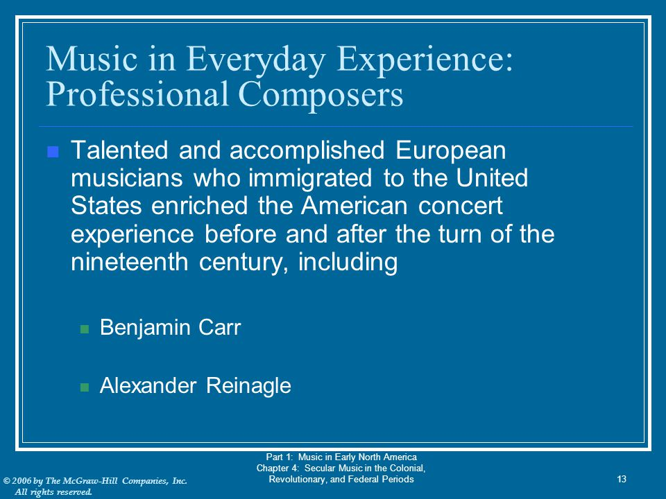 Music in Everyday Experience: Professional Composers