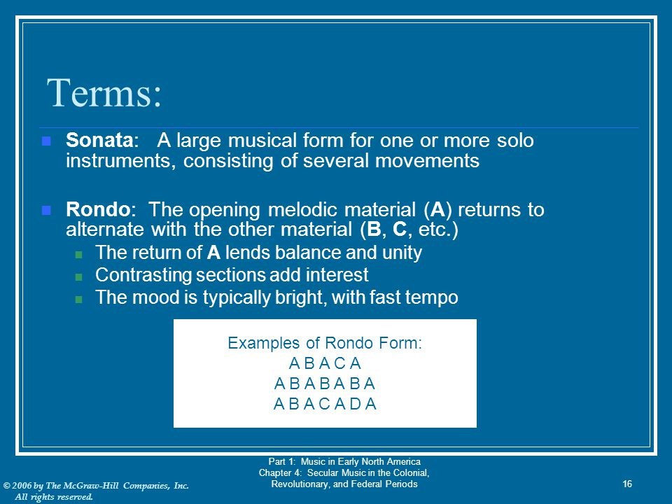 Examples of Rondo Form: