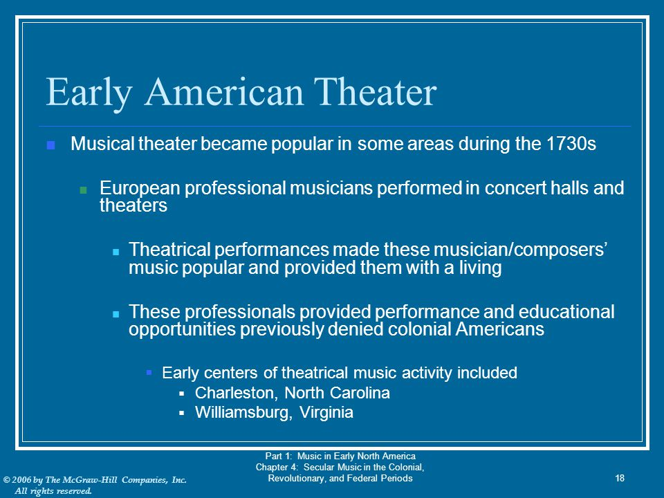 Early American Theater