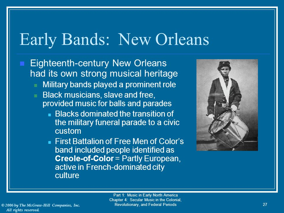 Early Bands: New Orleans