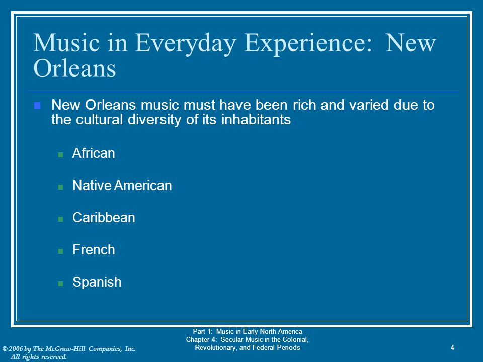 Music in Everyday Experience: New Orleans