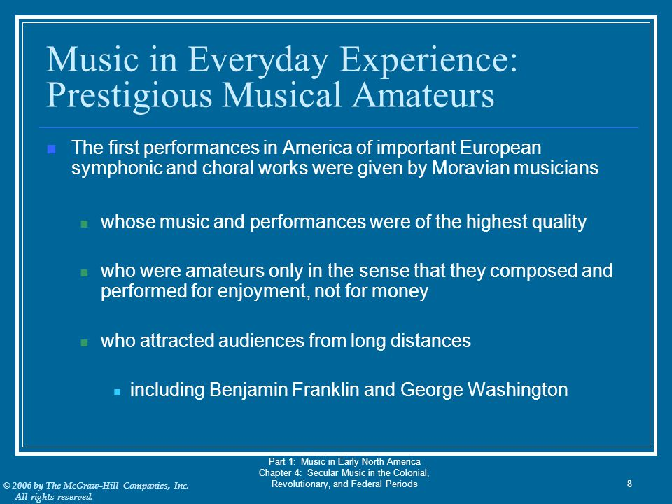 Music in Everyday Experience: Prestigious Musical Amateurs