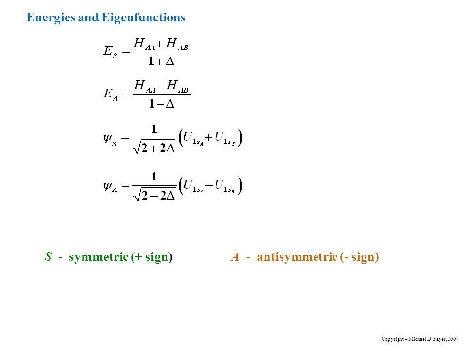 Energies and Eigenfunctions
