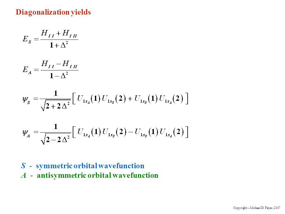 Diagonalization yields
