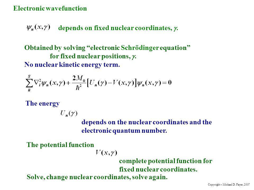 Electronic wavefunction