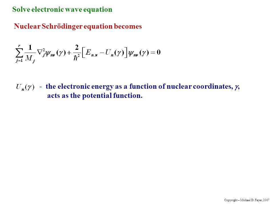 Solve electronic wave equation
