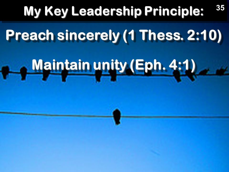 My Key Leadership Principle: