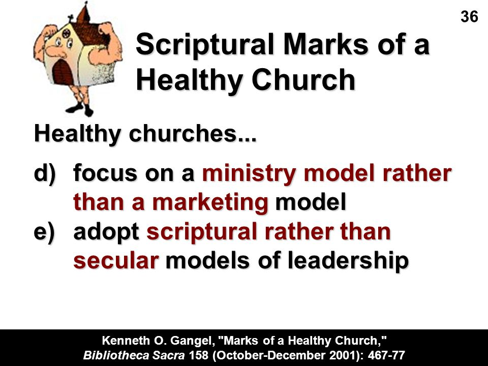 Scriptural Marks of a Healthy Church