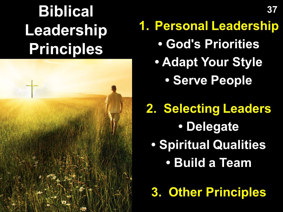 Biblical Leadership Principles
