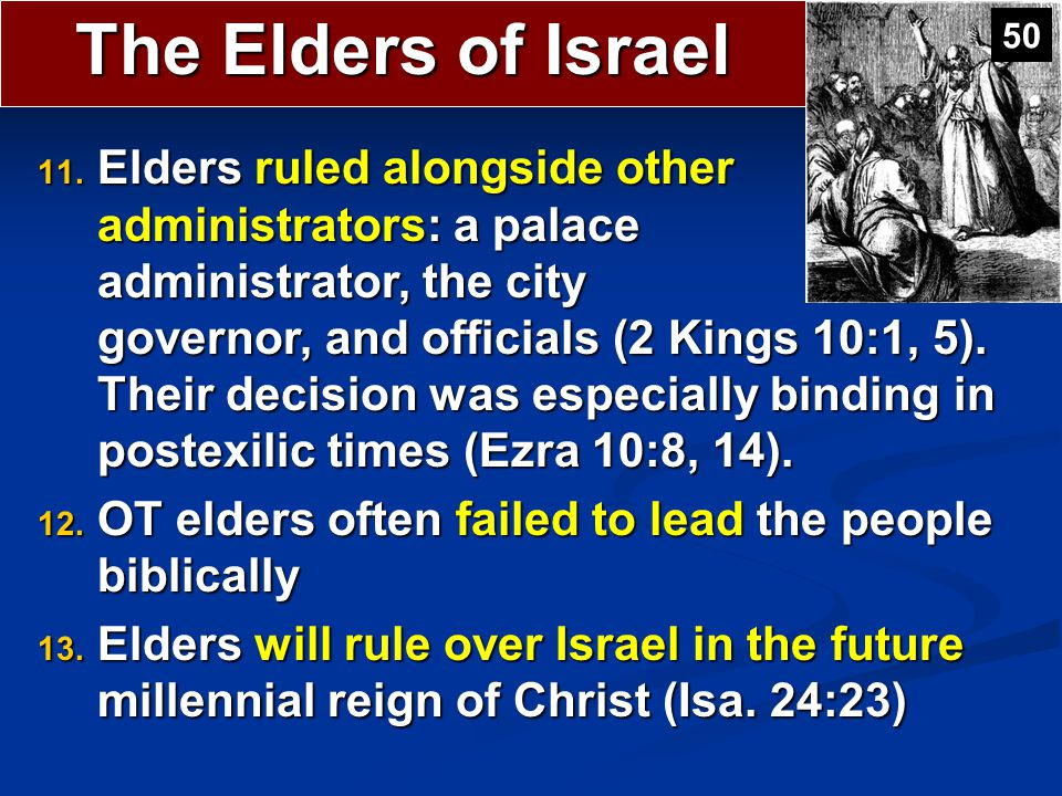 The Elders of Israel 50.