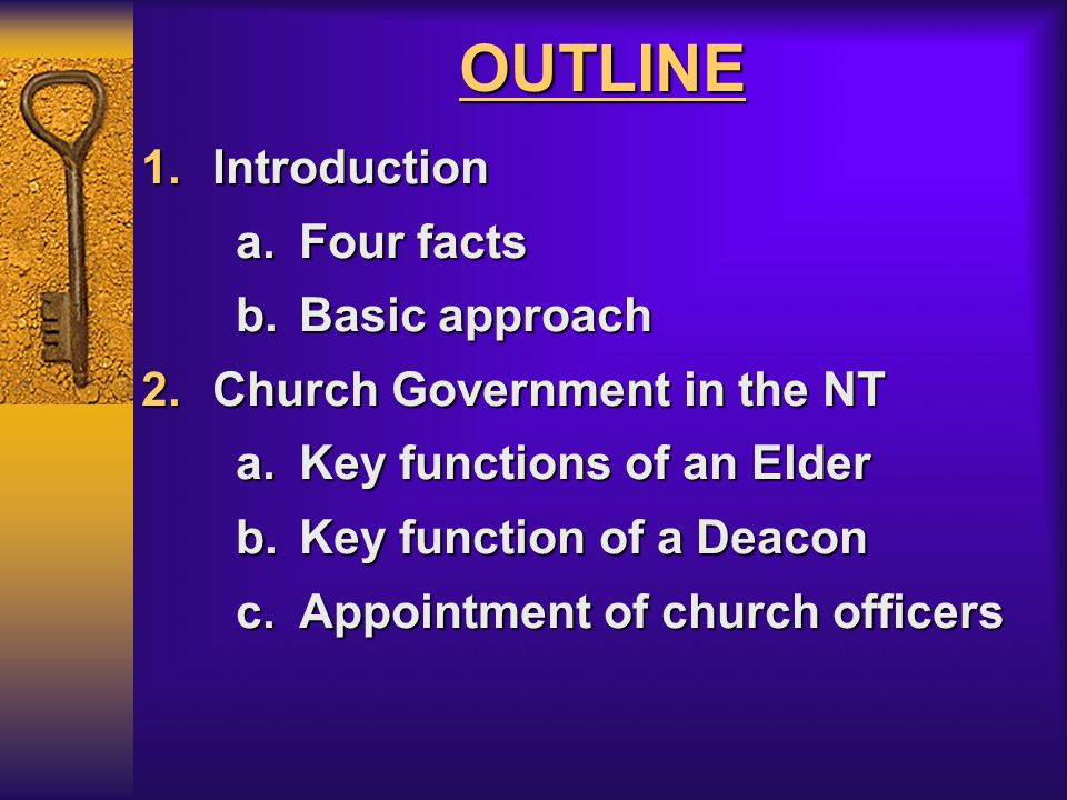 OUTLINE Introduction Four facts Basic approach
