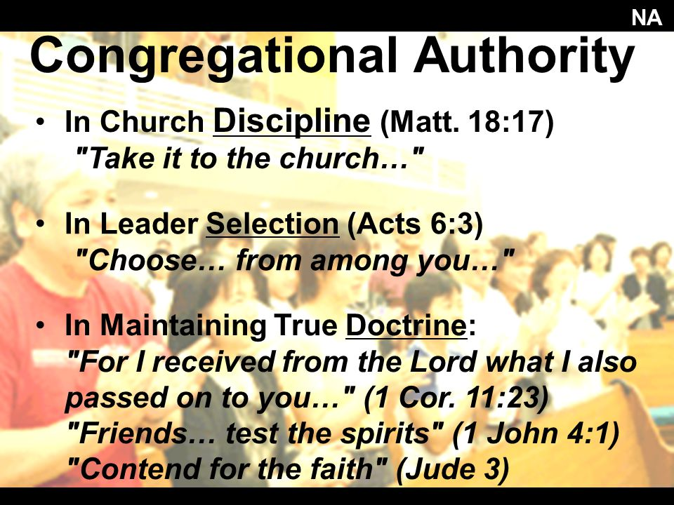 Congregational Authority