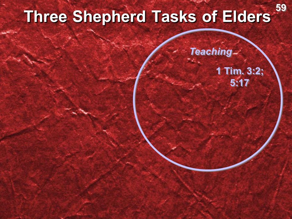 Three Shepherd Tasks of Elders
