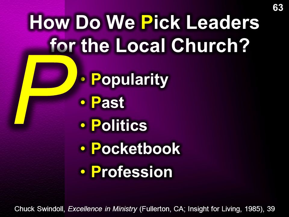 How Do We Pick Leaders for the Local Church