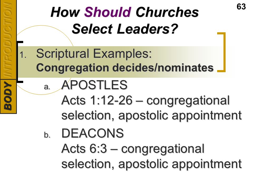 How Should Churches Select Leaders