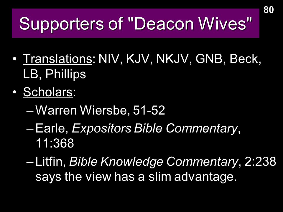 Supporters of Deacon Wives